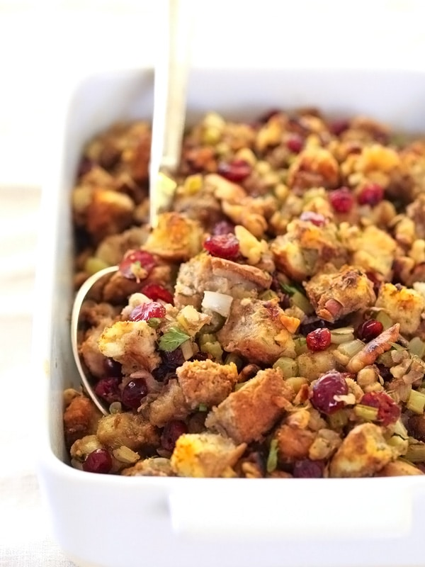 Cranberry and Walnut Stuffing for Thanksgiving