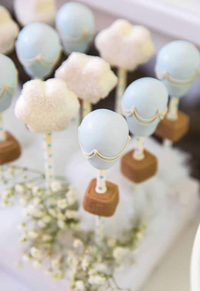 Boy's Hot Air Balloon First Birthday Cake Pops