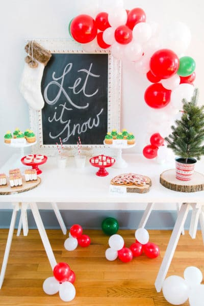 Let It Snow Christmas Party Styled Photo Shoot