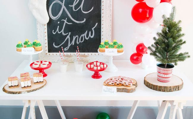 Whimsical Let It Snow Themed Holiday Party