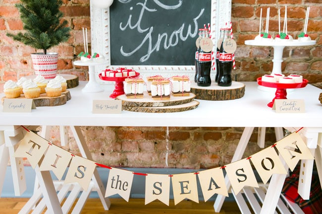 Whimsical Let It Snow Themed Holiday Party on Pretty My Party