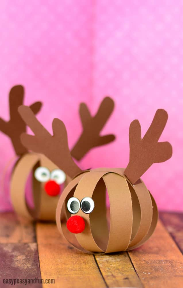 paper ball reindeer craft 13 diy ornaments can make pretty my 5070