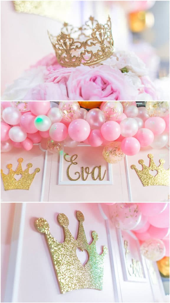 Pink And Gold Princess Party Decorations