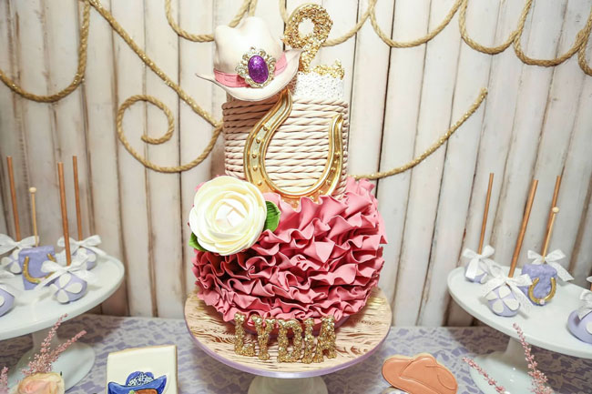 Royal Rodeo Cowgirl Birthday Cake