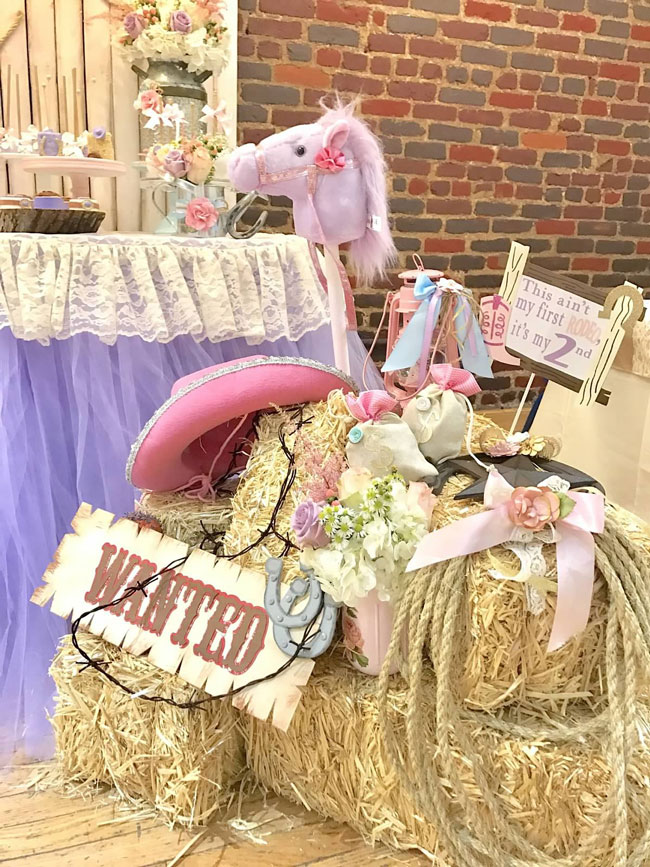 Royal Rodeo Cowgirl Birthday Decorations