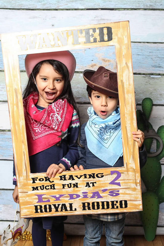 Royal Rodeo Cowgirl Birthday Party Photo Booth