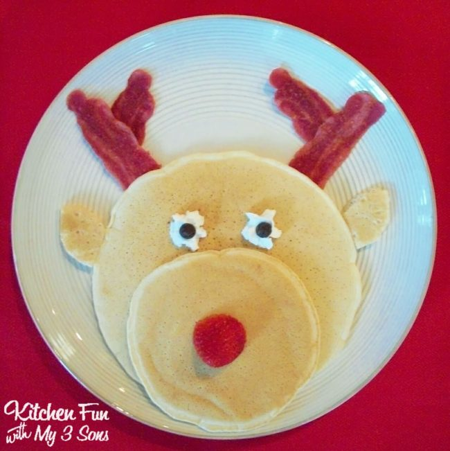 Rudolph Pancakes for Kids Santa Breakfast
