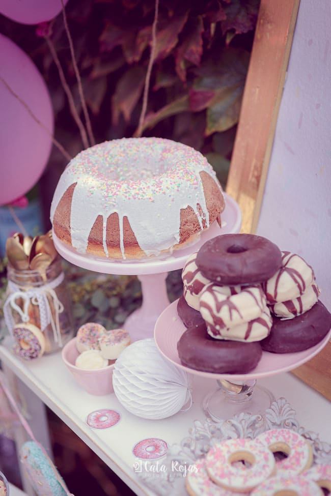 Vintage Donut Birthday Party Cake