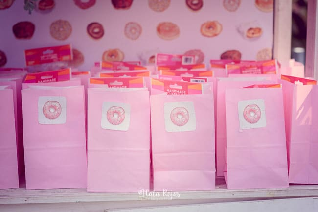 Vintage Donut Birthday Party Favors