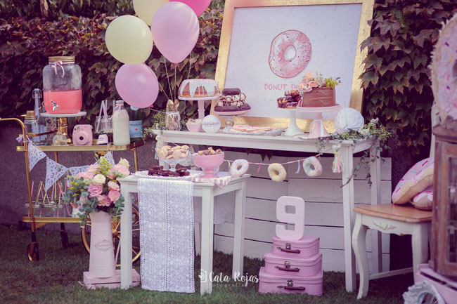 Vintage Donut Birthday Party Set Up