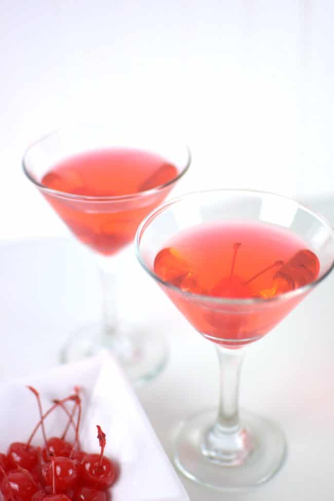 Sparkling Black Cherry Martini - 3 Party Perfect Dasani Sparkling Drink Recipes