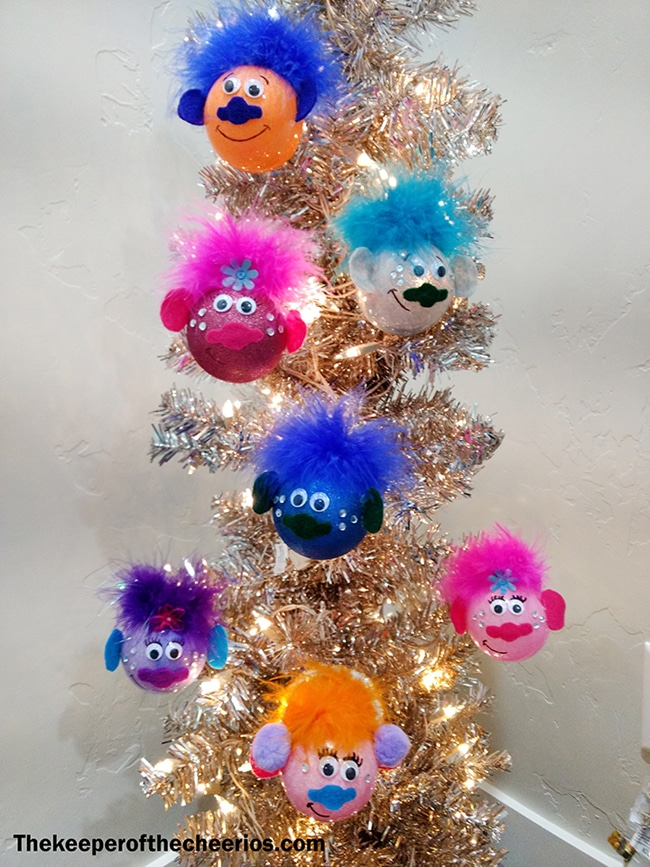 DIY Trolls Christmas Ornaments For Kids