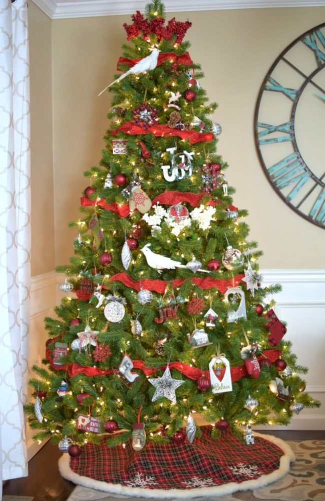 boscovs farmhouse inspired christmas tree decor - Farmhouse Christmas Tree Decorations