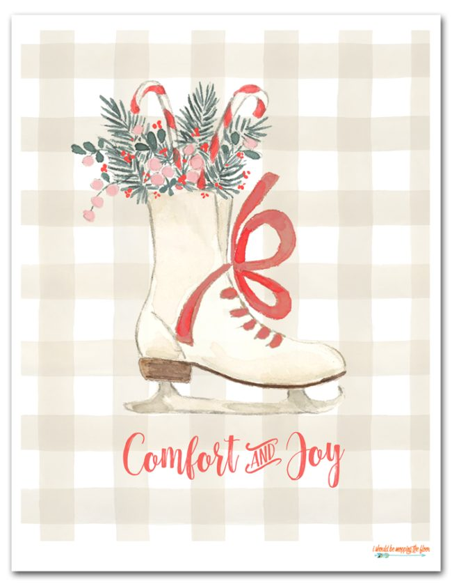 Free Comfort and Joy Holiday Printable