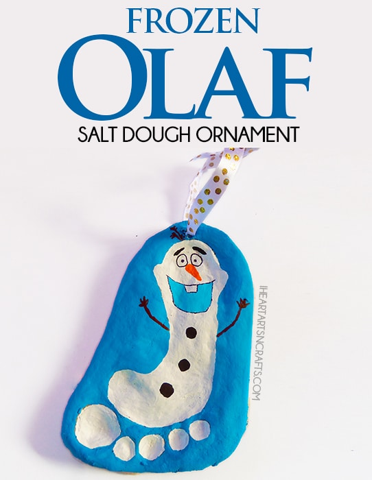 DIY Frozen Olaf Salt Dough Ornament - Kids Ornaments