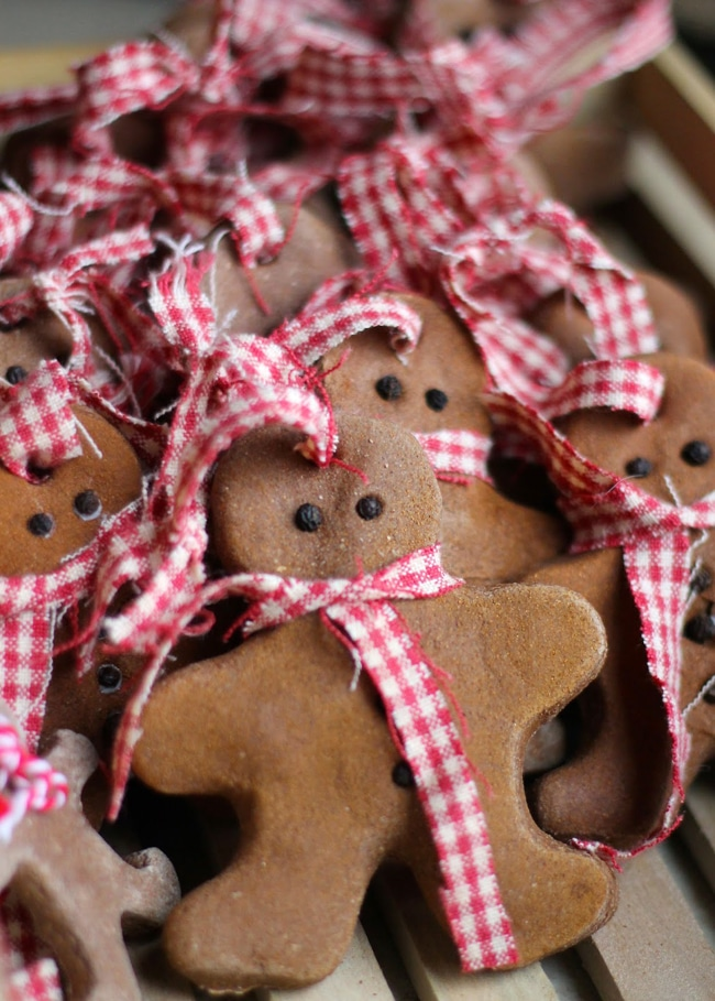 Gingerbread Salt Dough Ornaments - Salt Dough Ornament Ideas