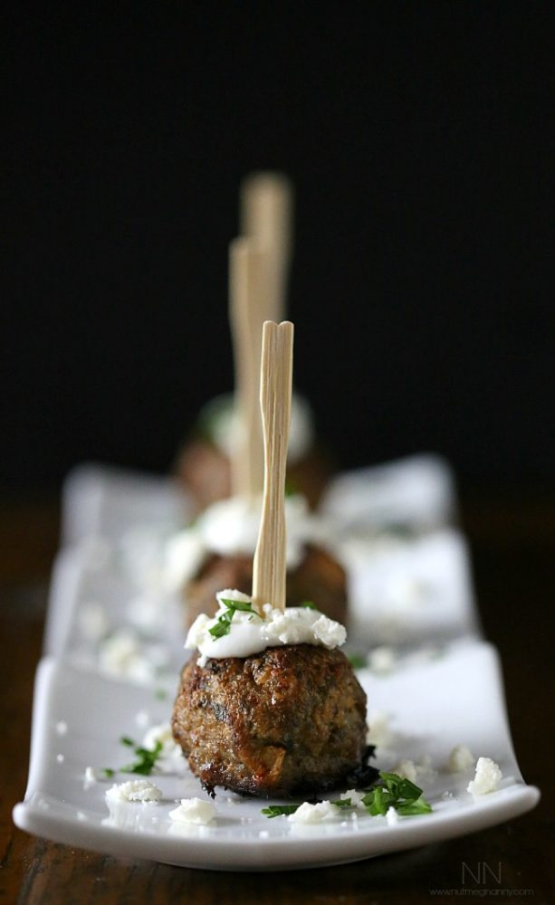 Greek Lamb Meatball Appetizer