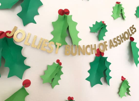 Jolly Banner for Ugly Sweater Party - 16 Totally Unforgettable Ugly Sweater Party Ideas