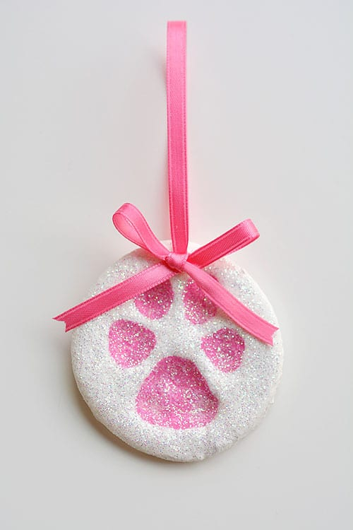 Paw Print Salt Dough Ornament