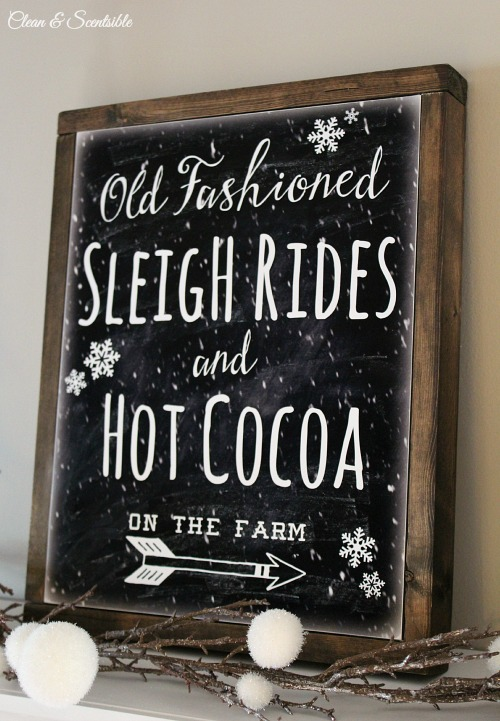 Sleigh Rides and Hot Cocoa Free Holiday Printable