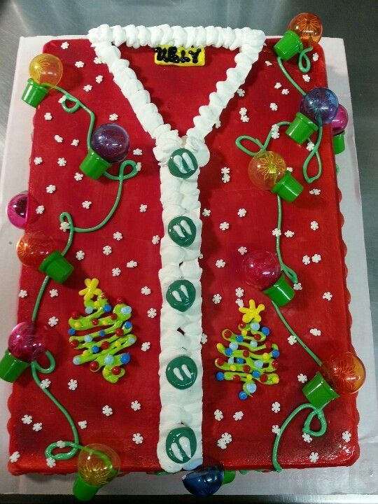 Ugly Christmas Sweater Cake - 16 Totally Unforgettable Ugly Sweater Party Ideas