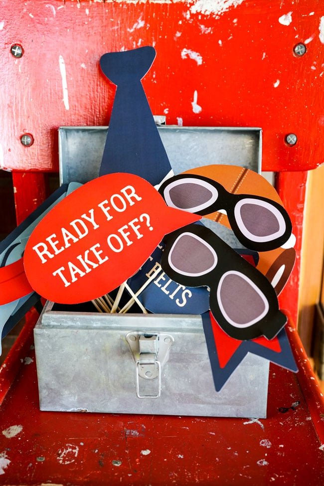 Vintage Airplane Birthday Party Photo Booth Props