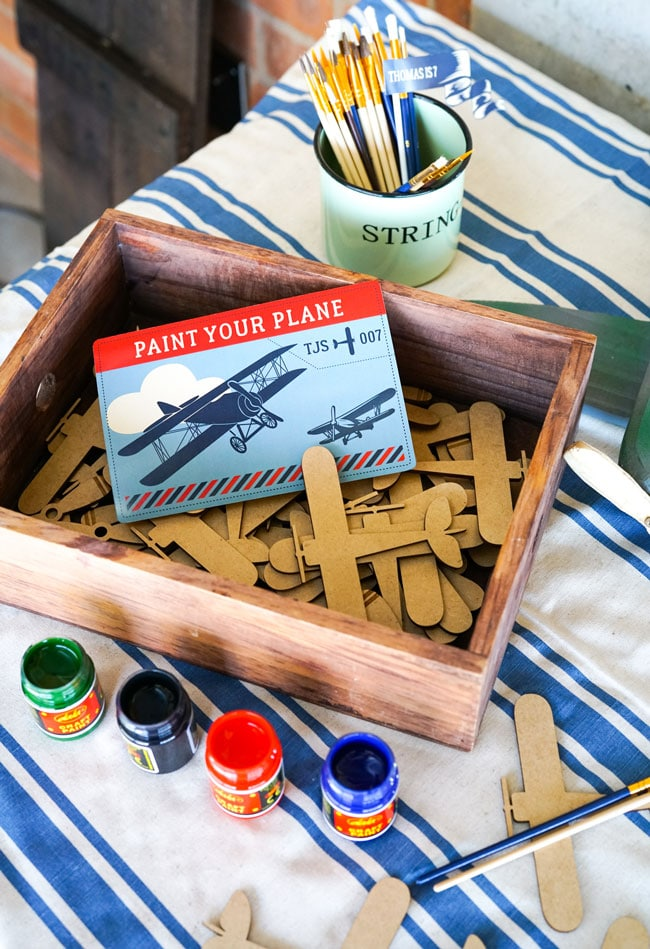 Vintage Airplane Birthday Party Paint Your Plane