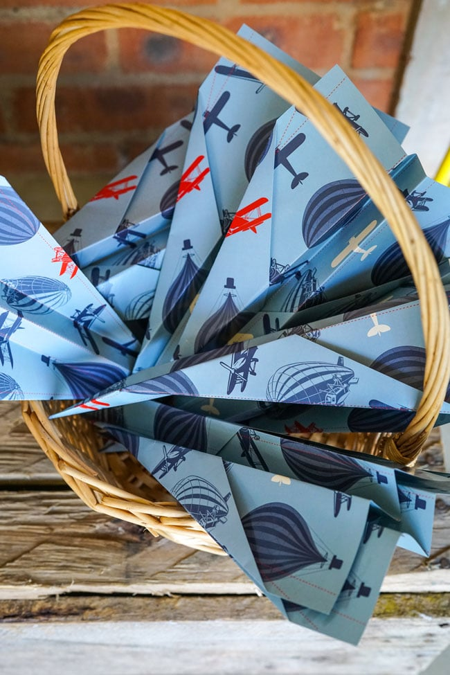 Vintage Airplane Birthday Party Paper Planes