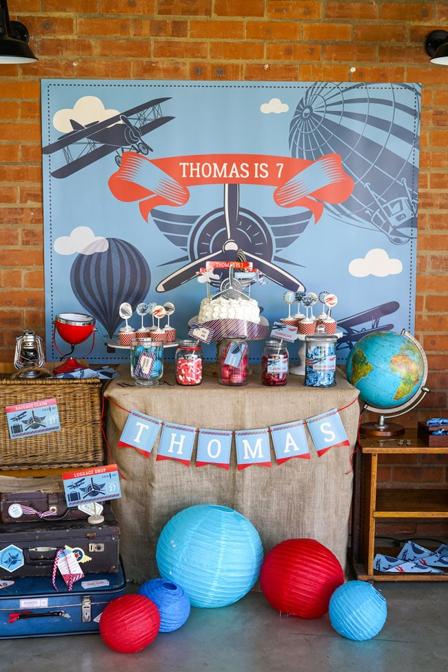 Vintage Airplane Birthday Party Airplane Birthday Party Ideas