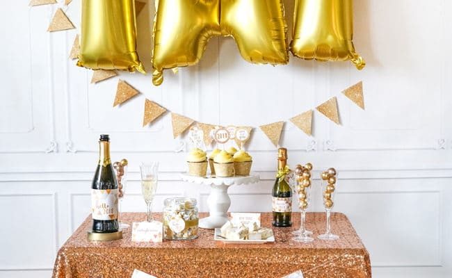Quick and Easy New Years Party Setup