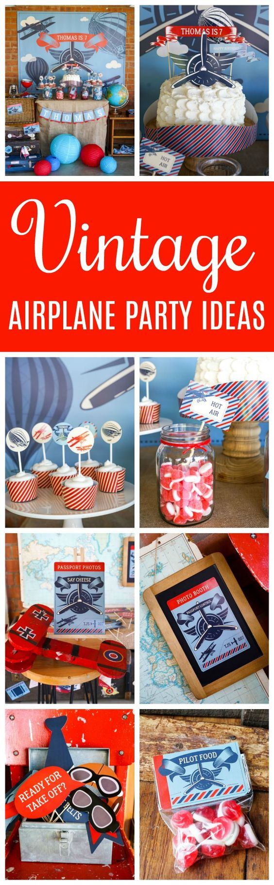 Vintage Airplane Birthday Party - Airplane Birthday Party Ideas
