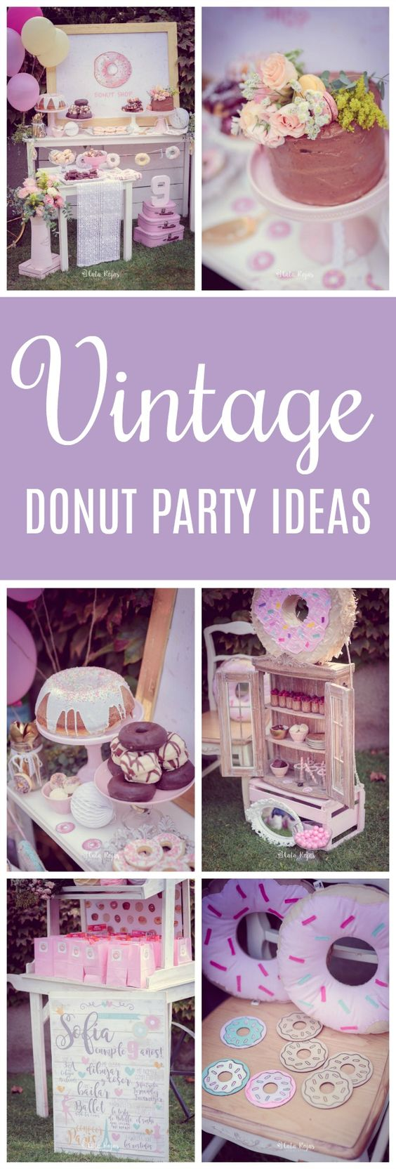 Vintage Donut Birthday Party - Pretty My Party