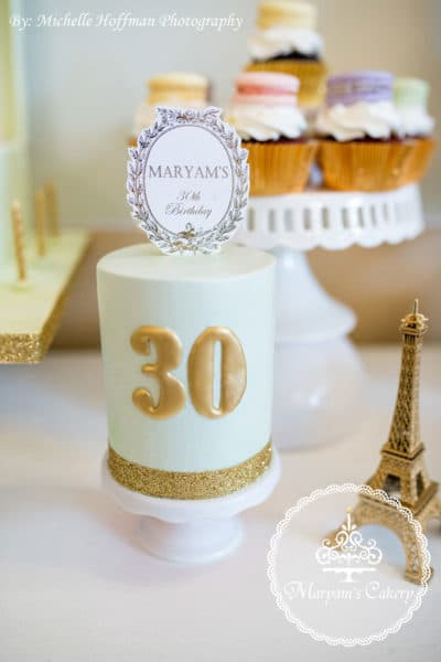 French Parisian Tea Party 30th Birthday
