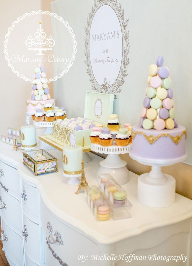 french parisian tea party 30th birthday pretty my party