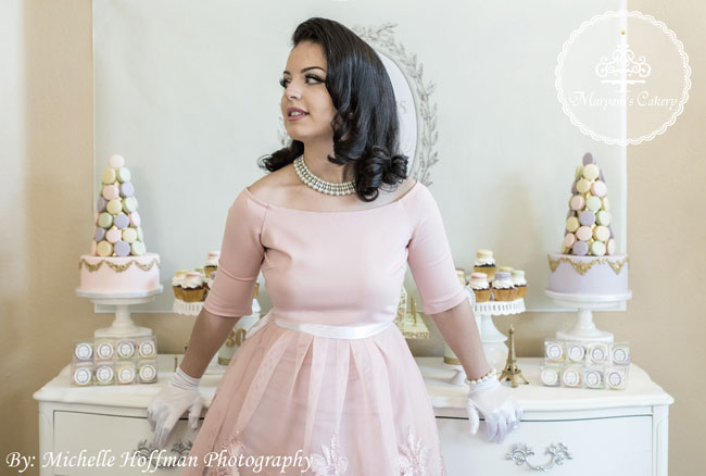 Pink Parisian tea party dress