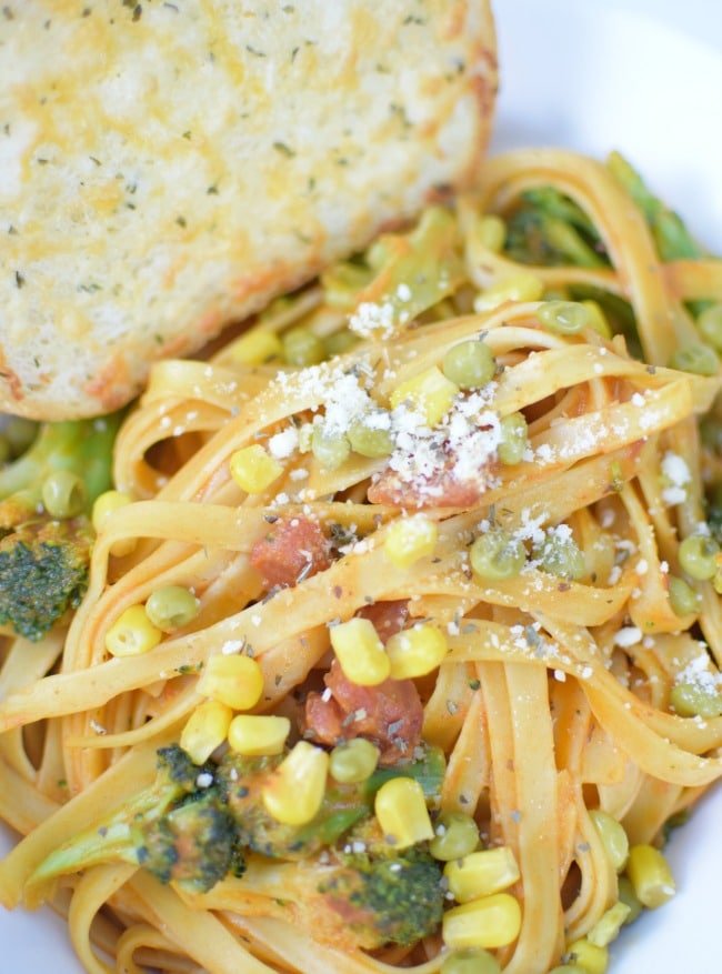 Ideas For Dinner Party Part - 30: Fettuccine Primavera Rosa Recipe - Italian Dinner Party Ideas
