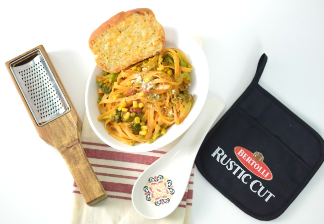 Fettuccine Primavera Rosa Recipe - Italian Dinner Party Ideas