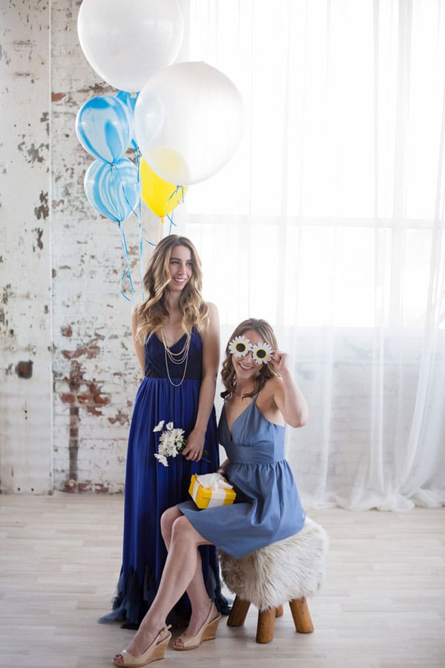 Modern Navy and Yellow Bridal Shower