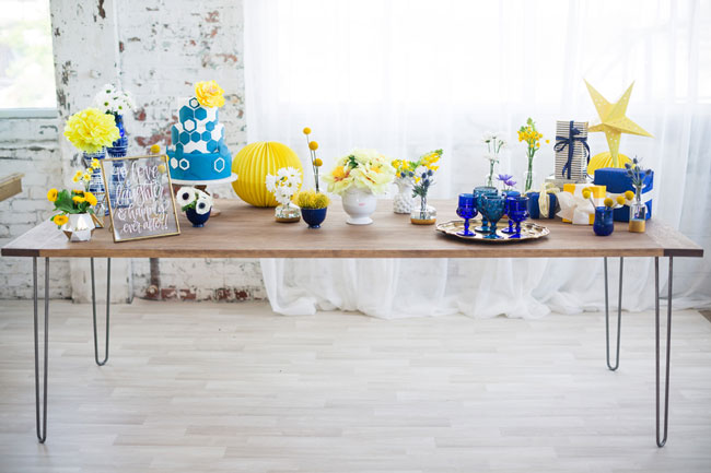 Blue and Yellow Bridal Shower