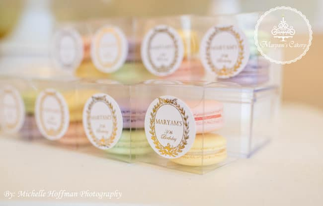 Parisian Tea Party macarons