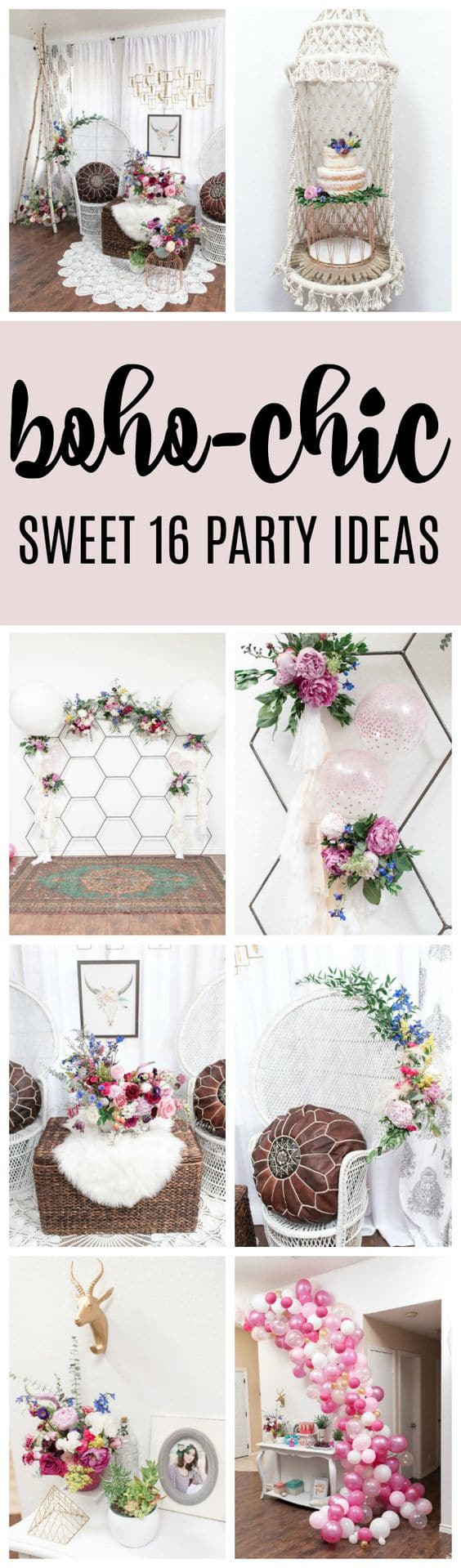 Colorful Boho Sweet Sixteen - Pretty My Party
