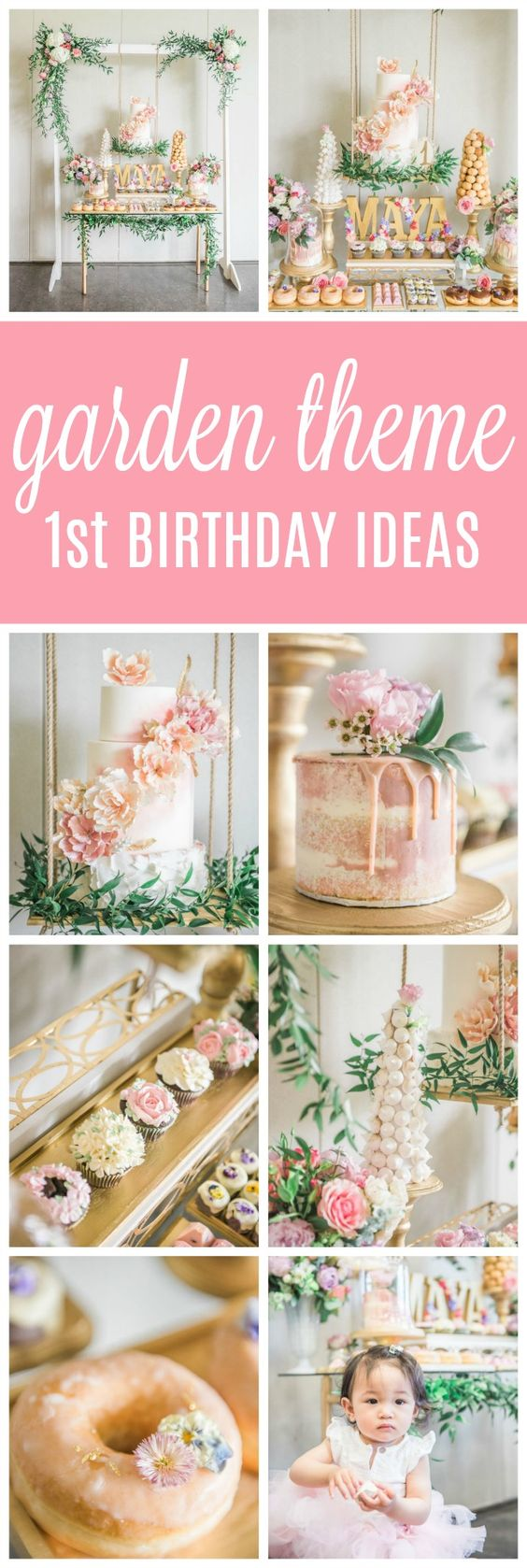 Gorgeous Garden Themed 1st Birthday Party - Pretty My Party