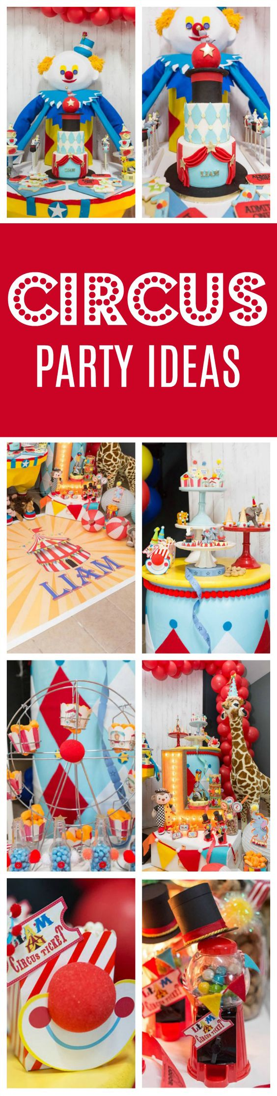 Sweet Circus Birthday Party - 1st Birthday - Pretty My Party