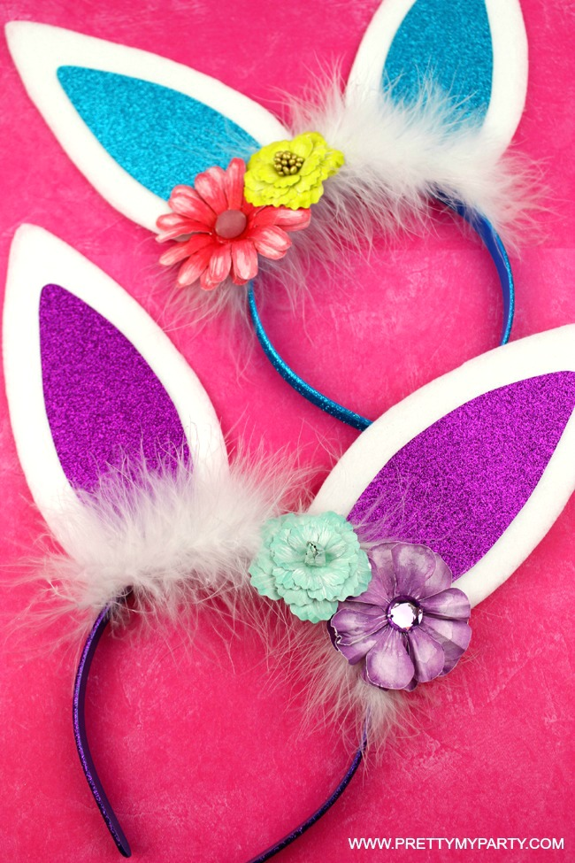 DIY Bunny Ears Headband on Pretty My Party