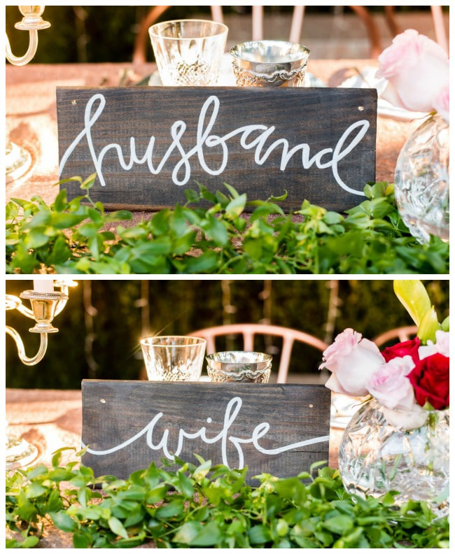 Garden Wedding Signs