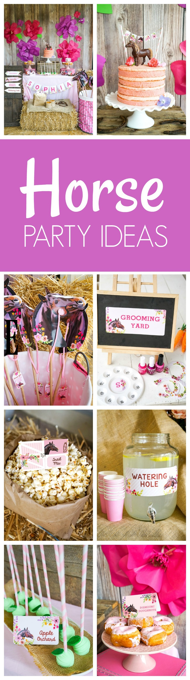 Rustic Horse Birthday Party - Horse Birthday Party - Pretty My Party