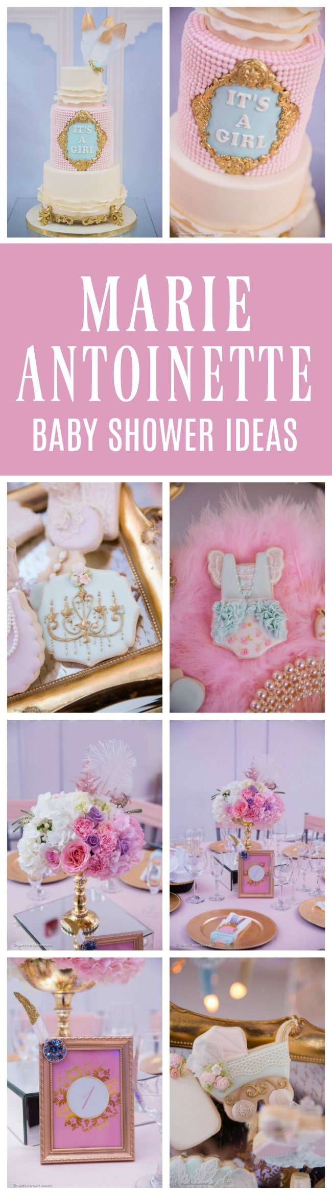 Gorgeous Marie Antoinette Baby Shower - Pretty My Party