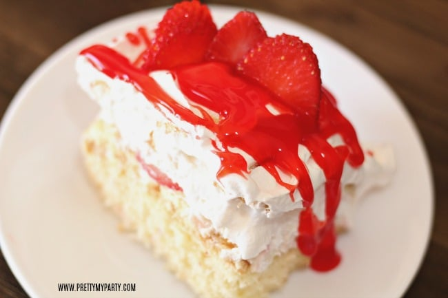Strawberry Shortcake Recipe with Fresh Strawberries and Strawberry Glaze