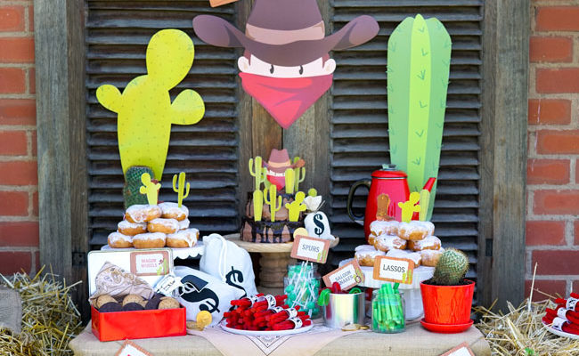 Wild West Cowboy Themed Birthday Party