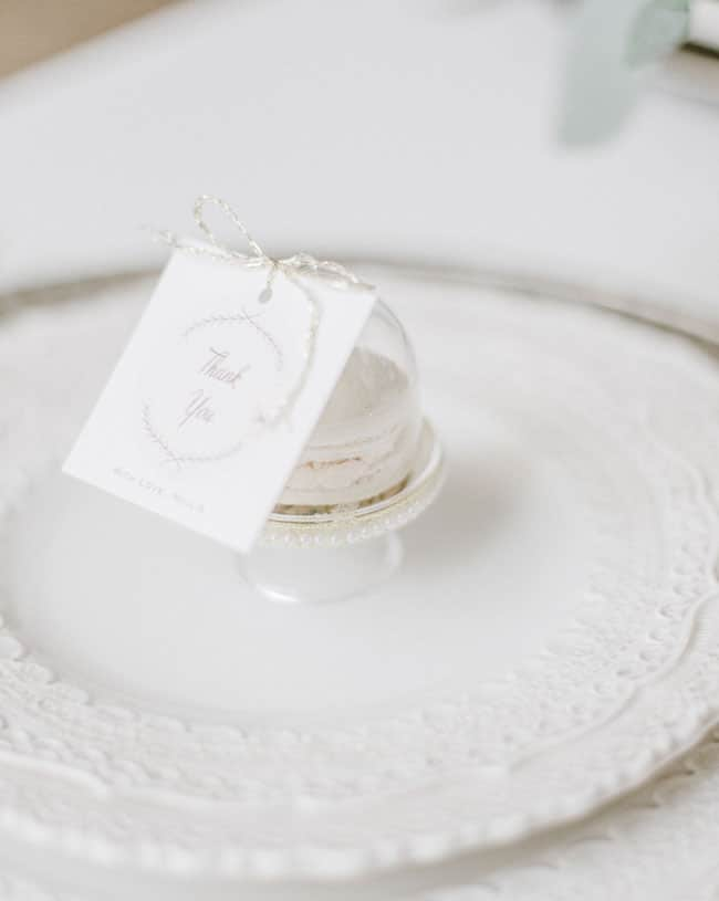 Parisian Tea Party Favors With Thank You Tags